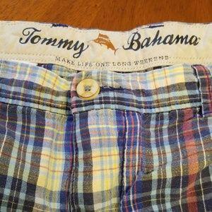 Tommy Bahama plaid linen tencel short C335:7:719